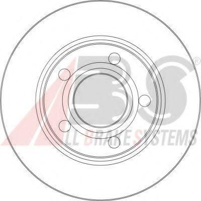 Диск тормозной AUDI A6 задн. (пр-во ABS)                                                             ABS 17062