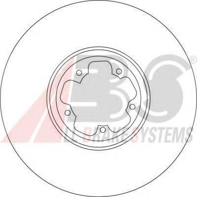 Диск гальмівний перед. Ford Transit 00- 294X24,4MM ABS 17115