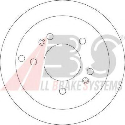 Диск тормозной (пр-во ABS)                                                                            арт. 17208