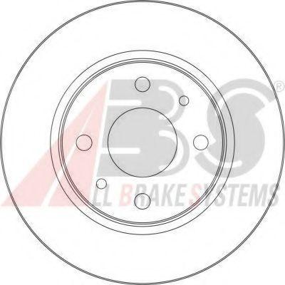 Диск тормозной ВАЗ 2110 передний вентилируемый R 13 вент. (пр-во ABS)                                 арт. 17339