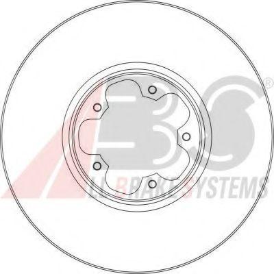 Диск тормозной FORD TRANSIT передн. вент. (пр-во ABS)                                                ABS 17356