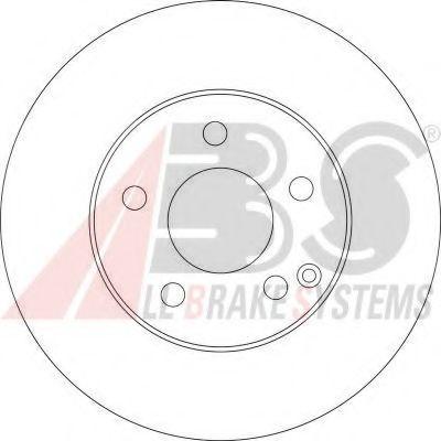 Диск гальмівний перед. MB W211 2.0/2.4/2.2CDI/2.7CDI 02- ABS 17400