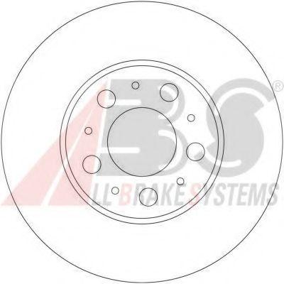 Диск гальмівний вентильований ABS 17404