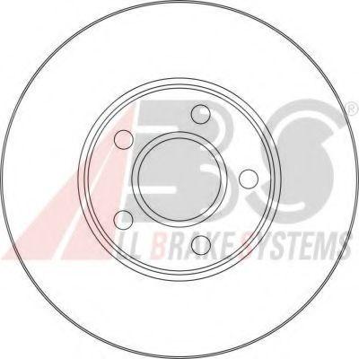 Диск тормозной FORD TRANSIT передн., вент. (пр-во ABS)                                                арт. 17416