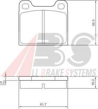 Колодка торм. ALFA ROMEO/MB/OPEL/VOLVO передн. (пр-во ABS)                                           ABS 36009