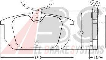 Комплект тормозных колодок, дисковый тормоз  арт. 36188