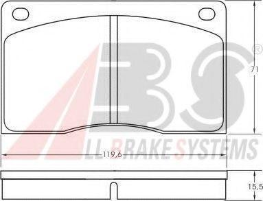 Комплект тормозных колодок, дисковый тормоз  арт. 36341