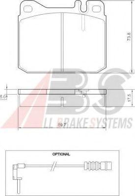 Колодка торм. MB 200/300/400/500 передн. (пр-во ABS)                                                 TRW арт. 36418