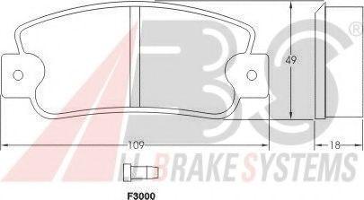 Колодка торм. FIAT/LANCIA/SEAT передн. (пр-во ABS)                                                    арт. 36518