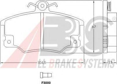 Комплект тормозных колодок, дисковый тормоз  арт. 36521