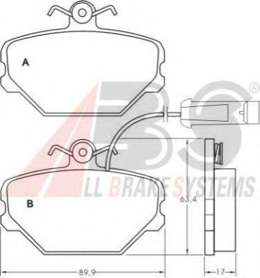 Комплект тормозных колодок, дисковый тормоз  арт. 36630