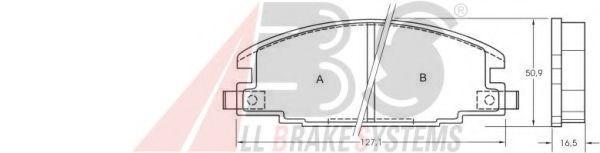 Комплект тормозных колодок, дисковый тормоз  арт. 36632