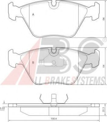 Гальмівні колодки дискові перед. BMW 5 (E34), 7 (E32), Z3 (E36) 1.8-5.0 01.88-  ABS 36650