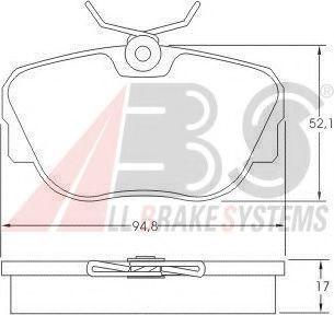Комплект тормозных колодок, дисковый тормоз  арт. 36664