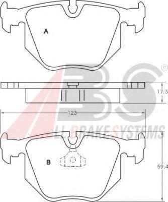 Комплект тормозных колодок, дисковый тормоз  арт. 36715