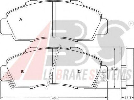 Комплект тормозных колодок, дисковый тормоз  арт. 36737