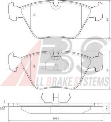 Комплект тормозных колодок, дисковый тормоз  арт. 36755