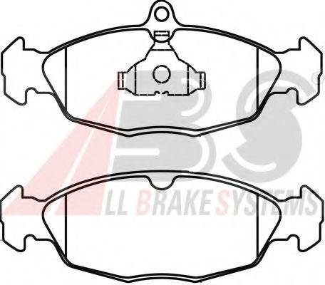 Гальмівні колодки дискові перед. Opel Astra/Vectra 1.4-1.8 -96  арт. 36771