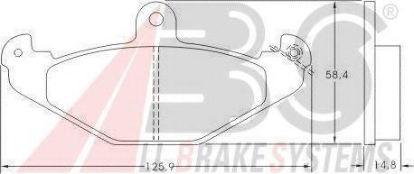 Гальмівні колодки дискові зад. Renault Safrane 1.8-8.0 08.92-06.03 ABS 36788