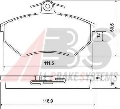 Гальмівні колодки дискові перед. Audi 80/90/100 08/82- ABS 36790