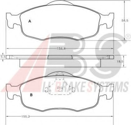 Гальмівні колодки дискові зад. Ford Mondeo 1.6-2.0 93-00 ABS 36809