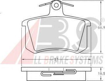 Колодка торм. ALFA ROMEO/AUDI/FIAT/VW задн. (пр-во ABS)                                              ABS 36818