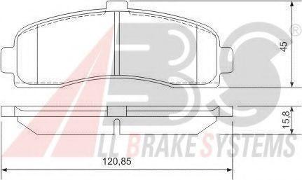 Гальмівні колодки дискові перед. Nissan Micra II 1.0i-1.5D 92-03   арт. 36848