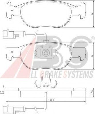 Колодка торм. FIAT/LANCIA BRAVA/BRAVO/DELTA передн. (пр-во ABS)                                       арт. 36892