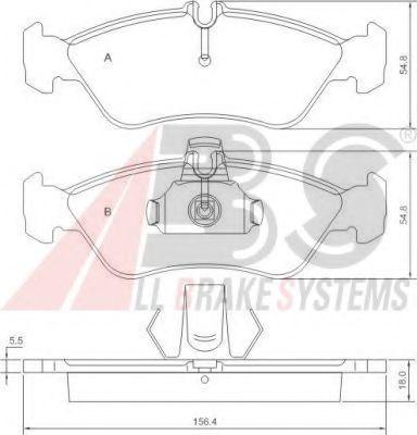Гальмівні колодки дискові зад. DB Sprinter (901, 902, 903) VW LT (28-35, 28-46) 2.2-2.8 02.95- ABS 36913