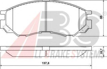 Гальмівні колодки передні Mitsubishi L200, L300, L400 2.0-3.0 94-  ABS 36925