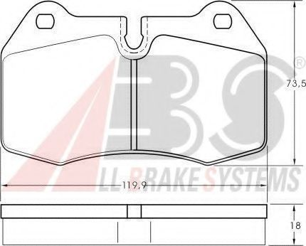 Колодка торм. BMW 7 ser. E38/8 ser. E31 передн. (пр-во ABS)                                           арт. 36958