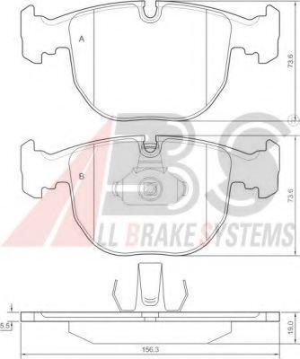 Колодка торм. BMW 5 ser./7 ser./X5 передн. (пр-во ABS)                                                арт. 36961