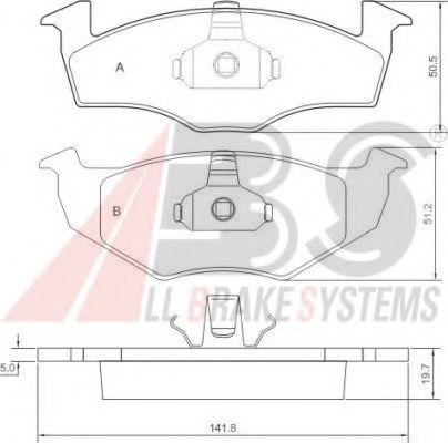 Гальмівні колодки P VW Golf III/Vento 95- ABS 36970