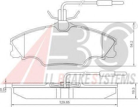 Гальмівні колодки дискові перед. Peugeot 406 95-06 1,6-1,8 95- ABS 36976