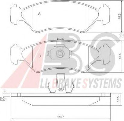 Комплект тормозных колодок, дисковый тормоз  арт. 36996