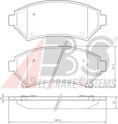 Комплект тормозных колодок, дисковый тормоз  арт. 37015