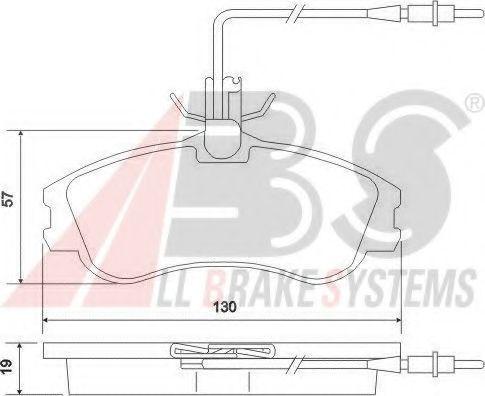 Гальмівні колодки дискові перед. Peugeot Berlingo/Partner 96-02 ABS 37016