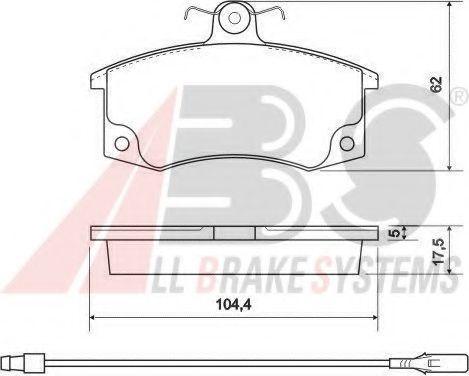 Колодка торм. ВАЗ 2110-12 перед. (пр-во ABS)                                                         TRW арт. 37079