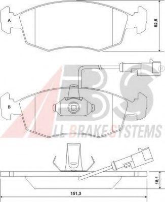Комплект тормозных колодок, дисковый тормоз  арт. 37122