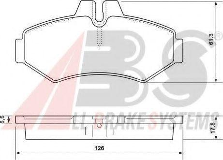 Гальмівні колодки дискові зад. DB/VW/Vario/Sprinter/VW LT  ABS 37124