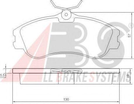 Гальмівні колодки дискові перед. Citroen Berlingo/ Citroen Xsara 1.1i-2.0HDi 00- ABS 37152