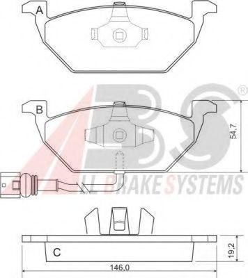 Колодка торм. AUD/SEAT/SKODA/VW A3/LEON/FABIA/OCTAVIA/BORA/GOLF передн. (пр-во ABS)                  REMSA арт. 37155