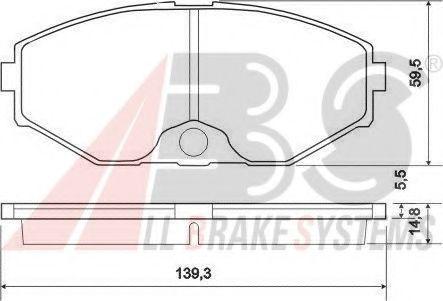 Комплект тормозных колодок, дисковый тормоз  арт. 37161