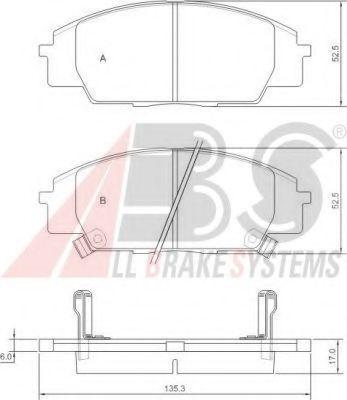 Гальмівні колодки дискові передн. Honda Civic, S2000, 2,0, 99-12 ABS 37174