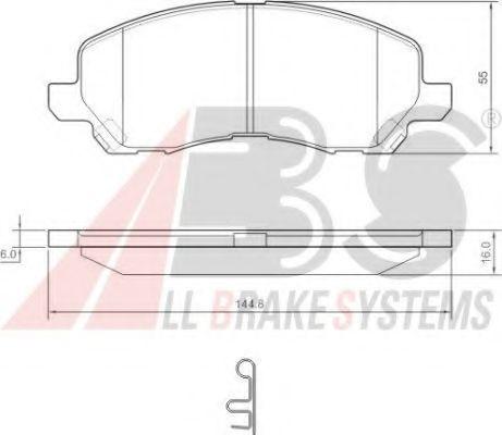 Колодка торм. MITSUBISHI GALANT/SPACERUNNER передн. (пр-во ABS)                                      ASHIKA арт. 37202