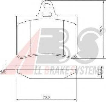 Гальмівні колодки дискові зад. Citroen C5 2.0 01- ABS 37276