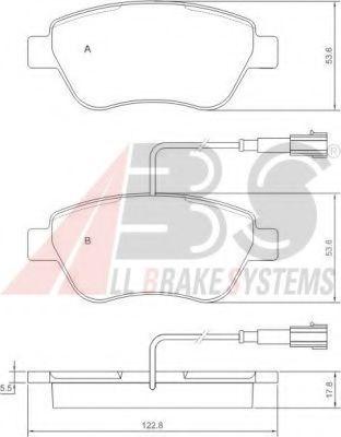 Колодка торм. ALFA ROMEO/FIAT/LANCIA передн. (пр-во ABS)                                             ABS 37280