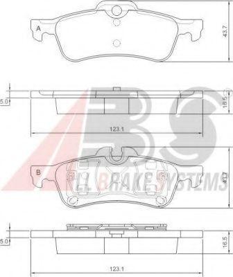 Гальмівні колодки дискові зад. Mini Cooper 1.6 16V (ATE)01-/BMW Mini 04- ABS 37305
