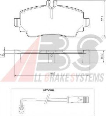 Гальмівні колодки перед. Mersedes A-class / Vaneo 1.6-1.9 02-  ABS 37336