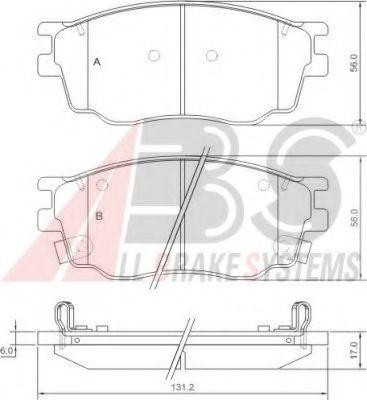 Гальмівні колодки дискові перед. Mazda 6 1.8 02-07 ABS 37351
